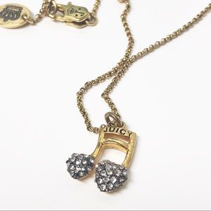 Juicy Couture • Crystal Pave Music Note Necklace